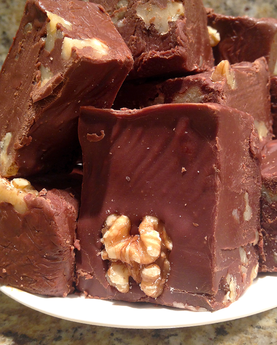 Order Fudge Grudge Chocolate Walnut Fudge On A Plate