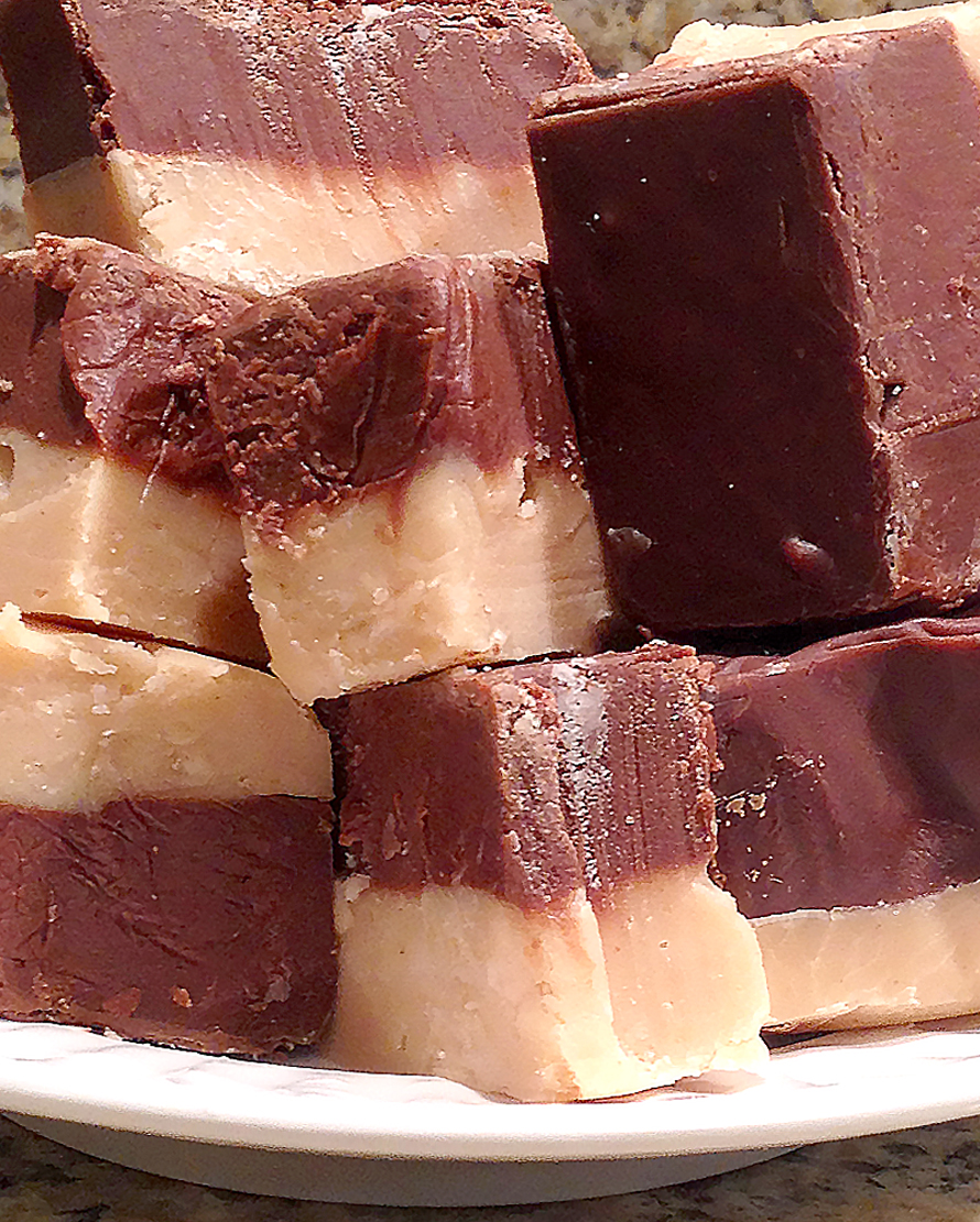 Order Fudge Grudge Half & Half Fudge On A Plate